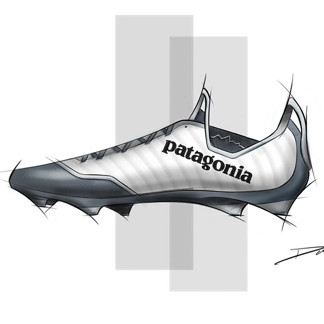 Was thinking about if @patagonia made a soccer cleat. Never gonna happen but interesting to think about.  #idsketching #shoes #industrialdesign #productdesign #idsketch #art #instaart #soccercleats #footballboots