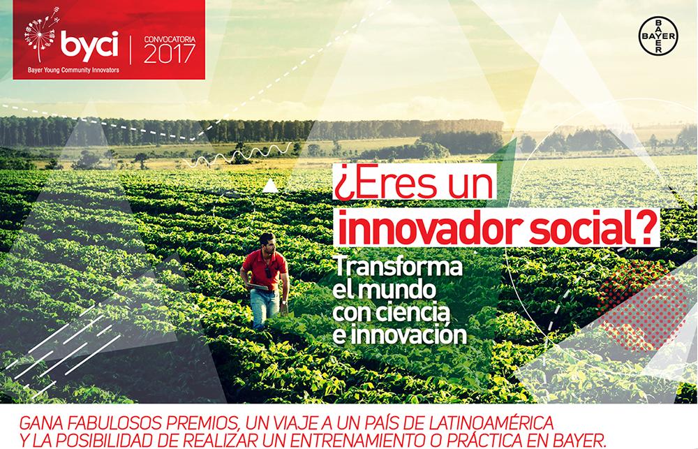Si eres un innovador social, postula a la convocatoria Bayer Young Community Innovators  aquí . ¡Recuerda que tienes hasta el 31 de Agosto 2017!