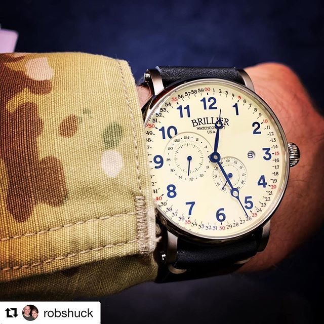 Proudly worn by patriots! Thanks @robshuck for all that you do! 💪🇺🇸 #Repost @robshuck ・・・ My Brillier Americana Chapter  watch arrived safely to Korea.