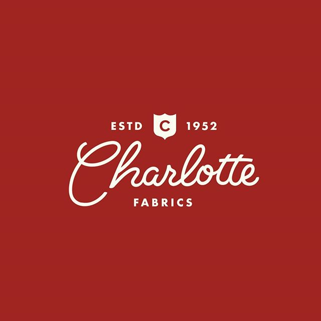A project we did last year, the rebranding of Charlotte Fabrics, a three generation textile company. We simplified the Charlotte type script back to an era that reflected when the company was founded. #tbt