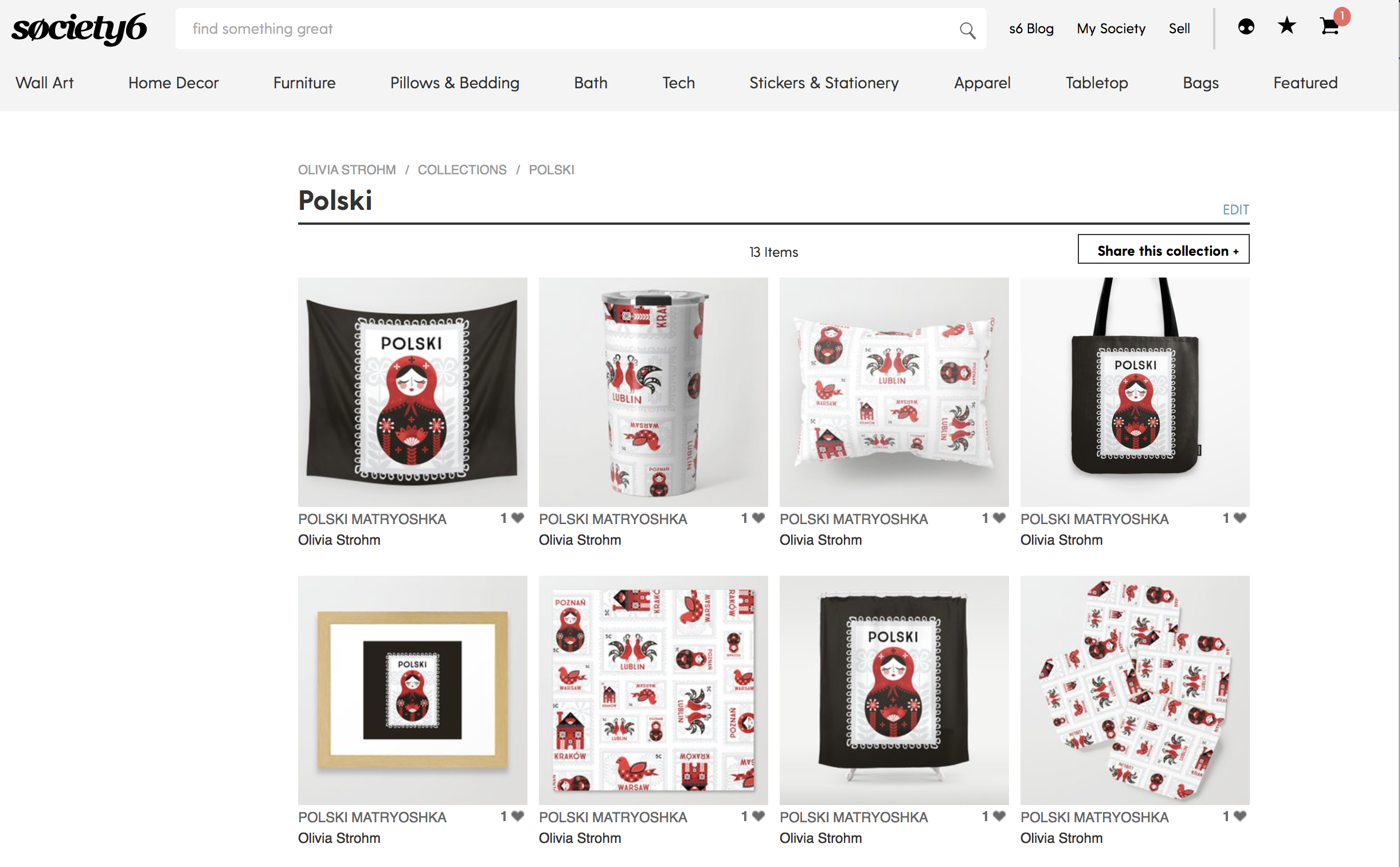 Society6 Click Through