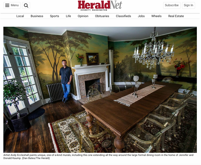 Andy Eccleshall murals in the news