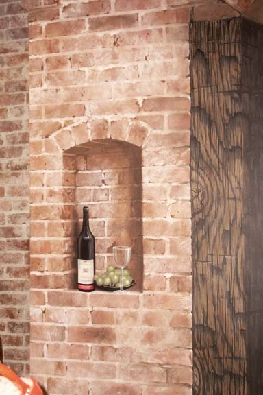 Trompe L'oeil Niche and faux brick