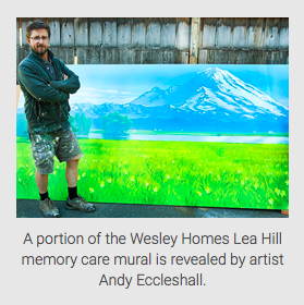 Andy Eccleshall paints for Wesley Homes memory care