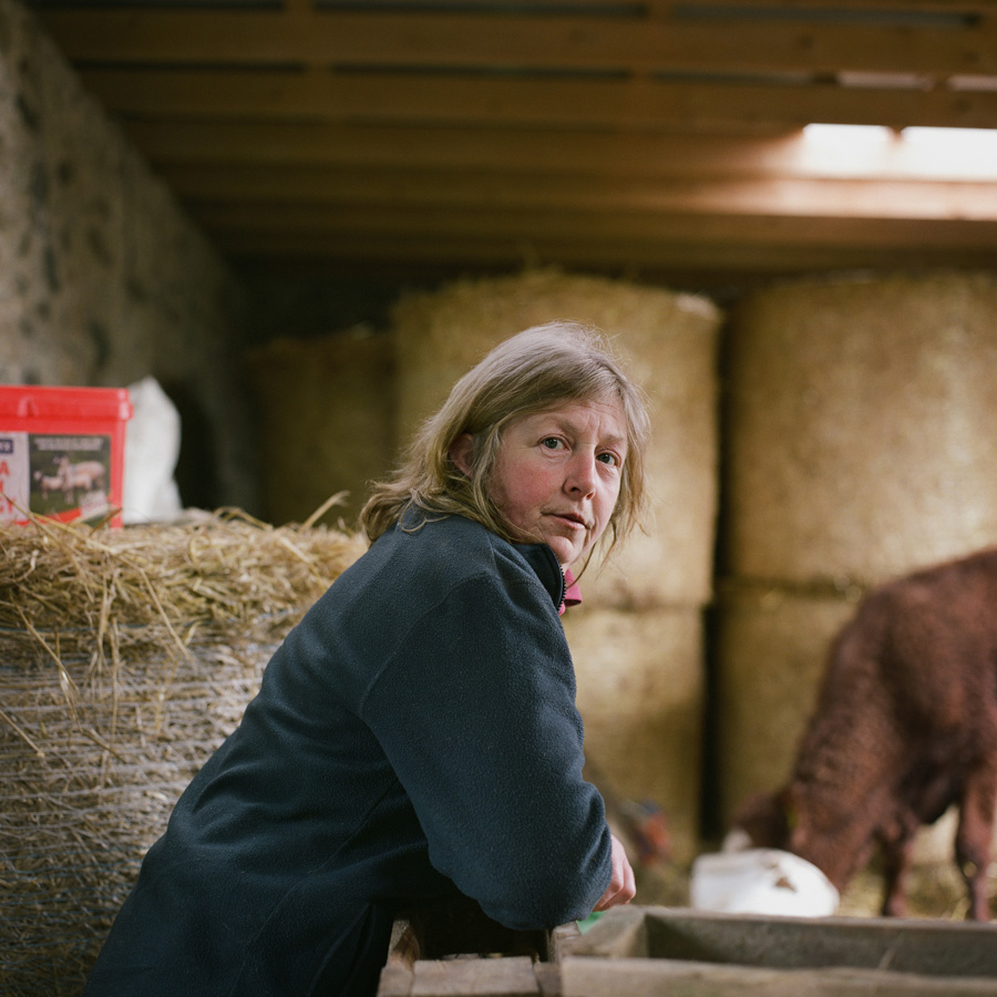 Sybil on her hill farm, Argyll & Bute. May 2015. From the series Drawn To The Land // © Sophie Gerrard
