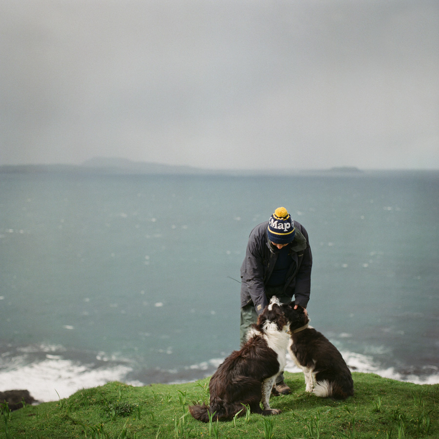 Sarah at Grulan, Isle of Eigg, May 2015. From the series Drawn To The Land // © Sophie Gerrard
