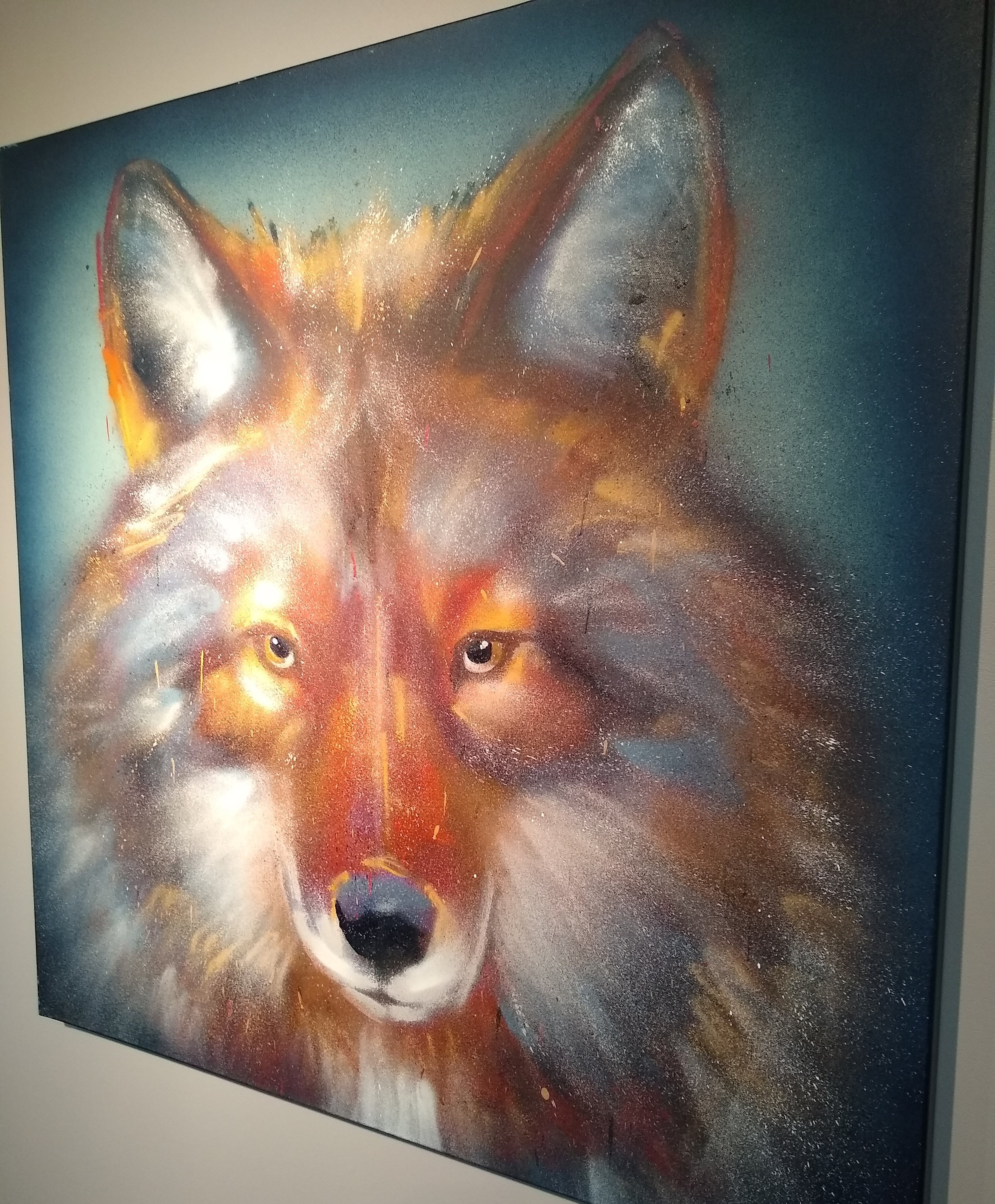 """Autumn Wolf"" - By Felix ""Flex"" MaldonadoFrom our Arterial Motives exhibit."