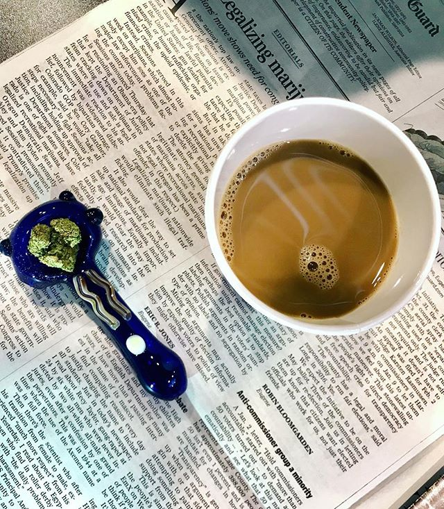The perfect way to start the day is with a cup of coffee, cannabis and the morning paper. The Greener Side Team wishes everyone a fabulous Sunday no matter what you're doing, and an amazing start to this week. ☕️👌🏼❄️ • • #coffee #justdoobie #dispensary #recreational #cannabis #oregon #cannabiscommunity #icedcoffee #snowydays #thegreenerside #secretstash #sunday #thepaper #reading #keepeugenegreen #detroit #medical #recreate #mornings #travel #goodmorning #today  #picoftheday #smokeweed #420 #flowers #gethigh #medicate #heal #terpenes • • *Nothing is for sale on instagram. Do not drive or operate machinery under the influence of cannabis. For Adults 21+ and OMMP only.*