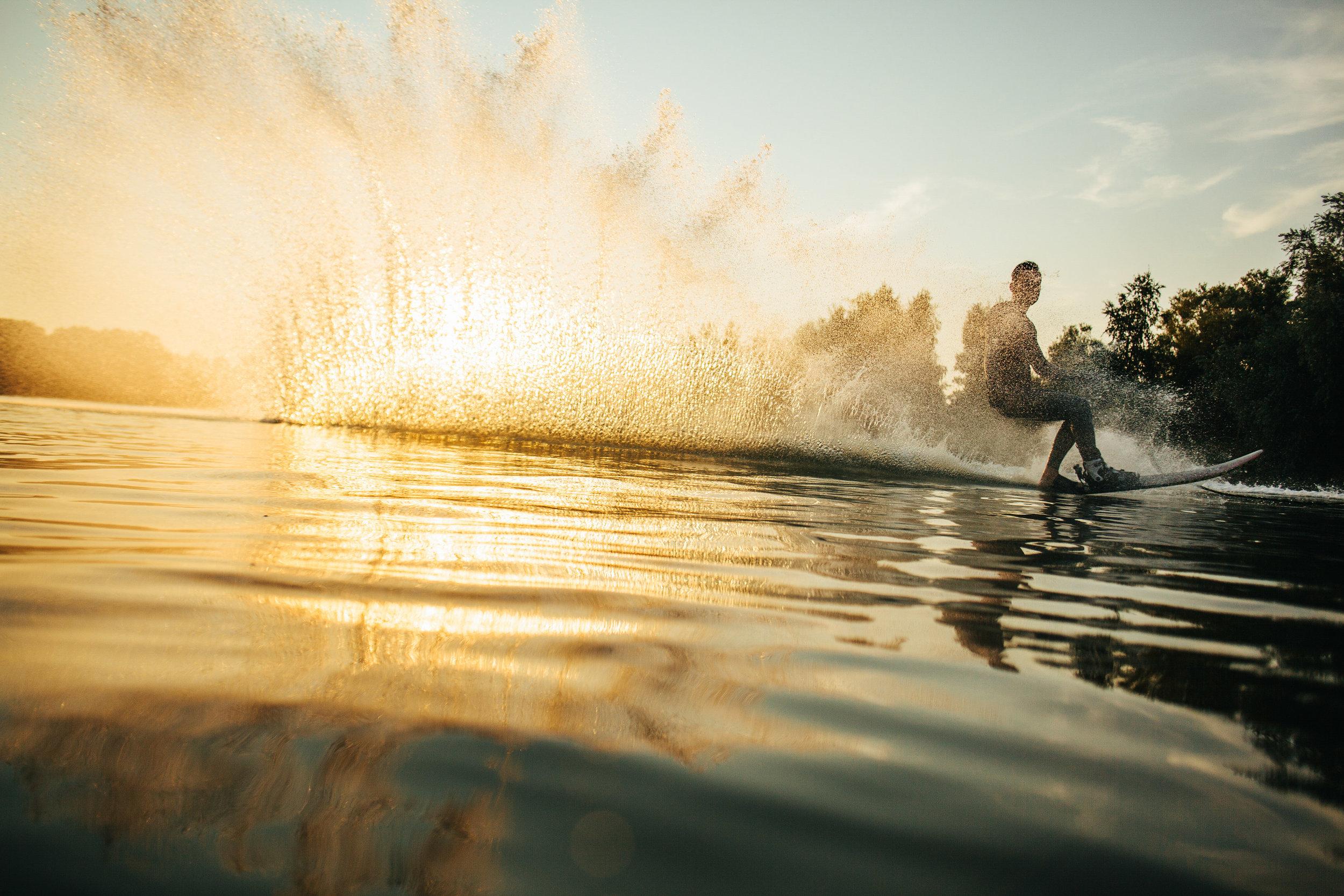 Lake Tahoe waterskiing