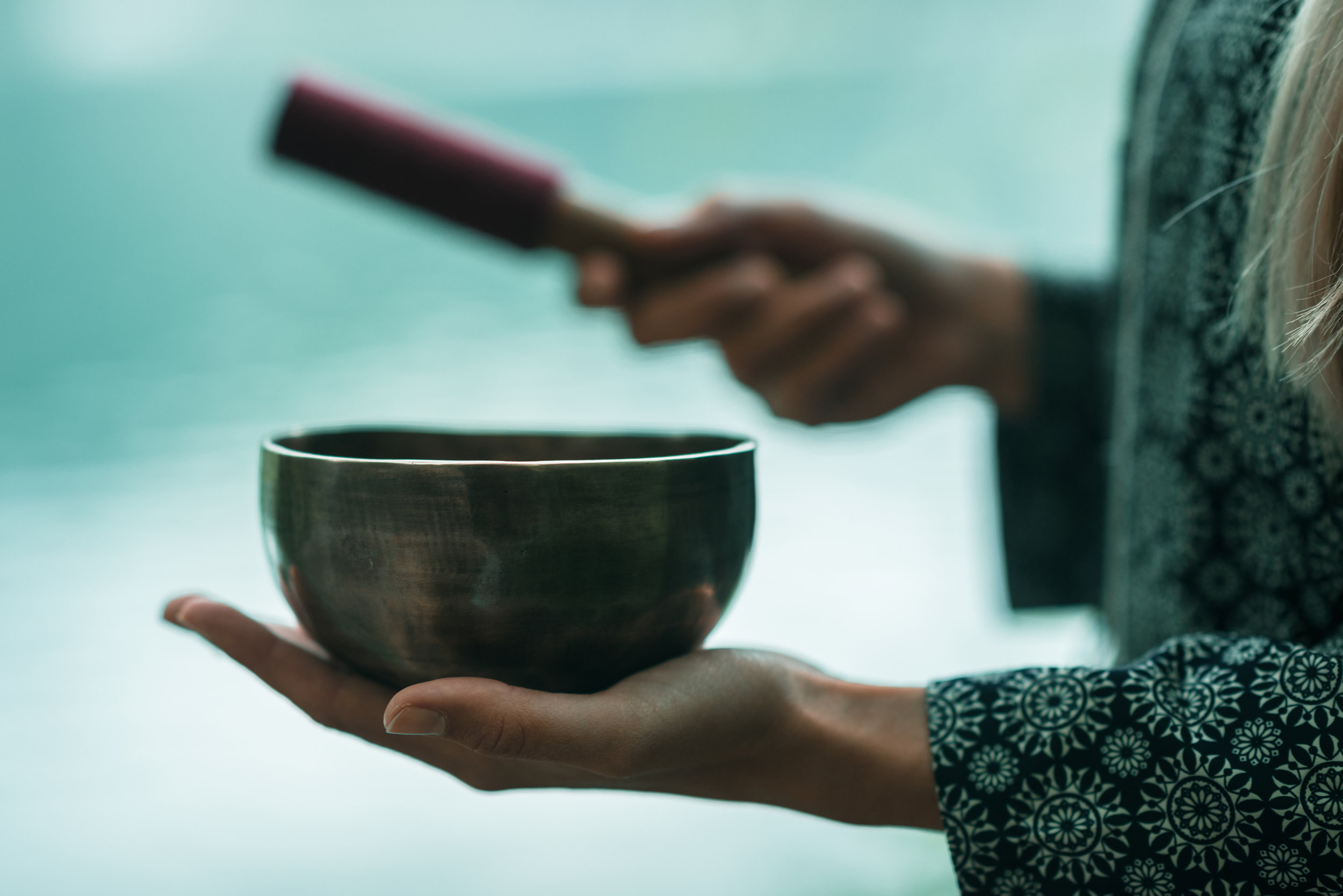 SOUND HEALING - Completely relax while absorbing the therapeutic healing of Tibetan singing bowls. Diffuse the negative impacts of stress, anxiety and life worries as you take part in this unique hands-on meditation.