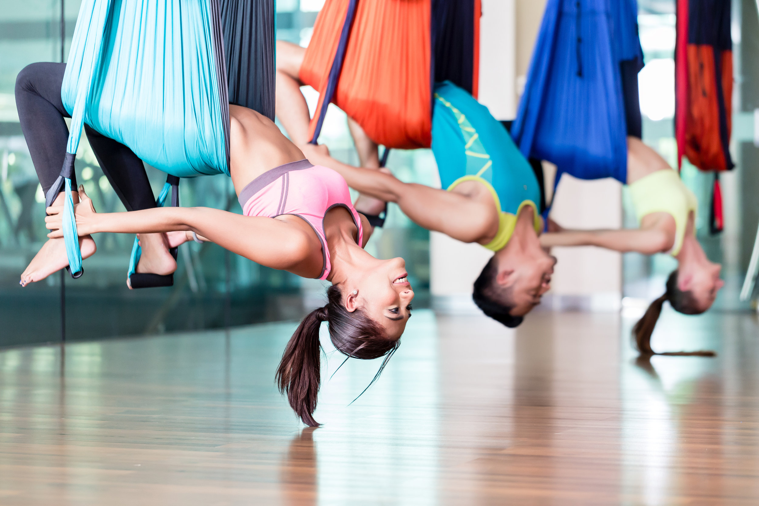 LENGTHEN & ELONGATE MUSCLES - Aerial yoga removes gravity from the stretching, lengthening, and strengthening equation. Regardless of each individual's ability, aerial yoga can provide infinite value to each and every body.