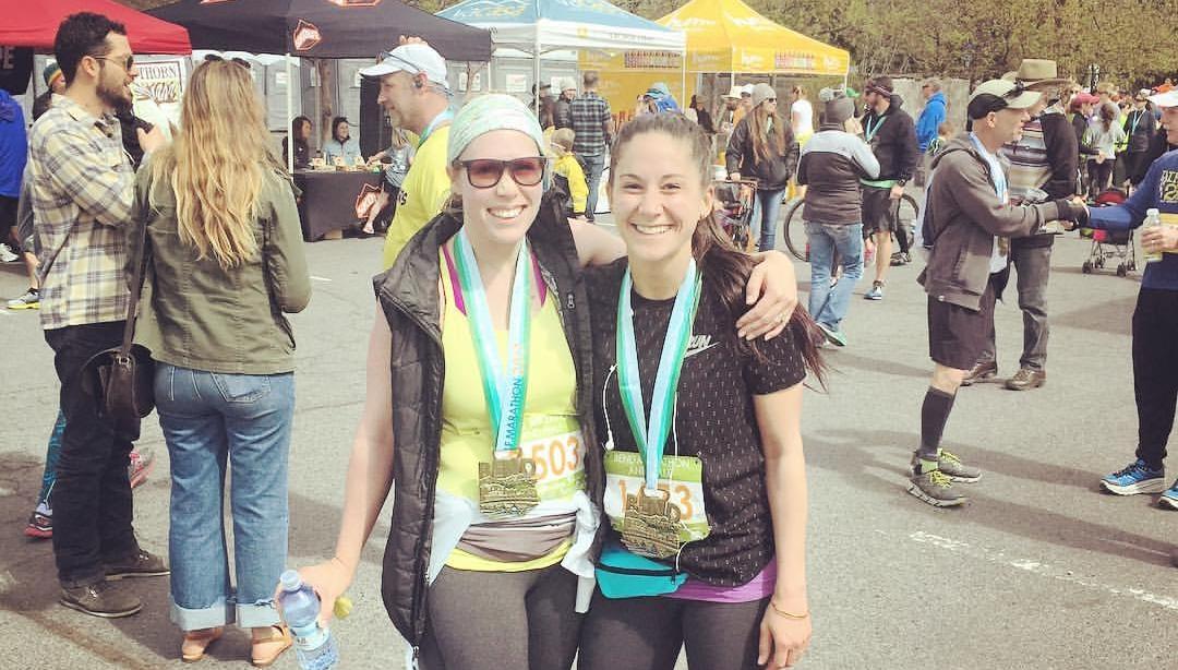 Lis and Sophie ran the Bend Half Marathon