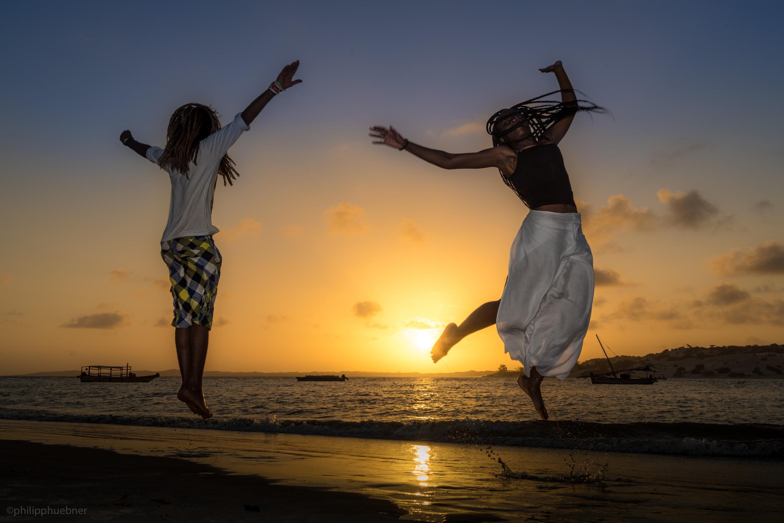 Manda Island dreadlock sunset jump session