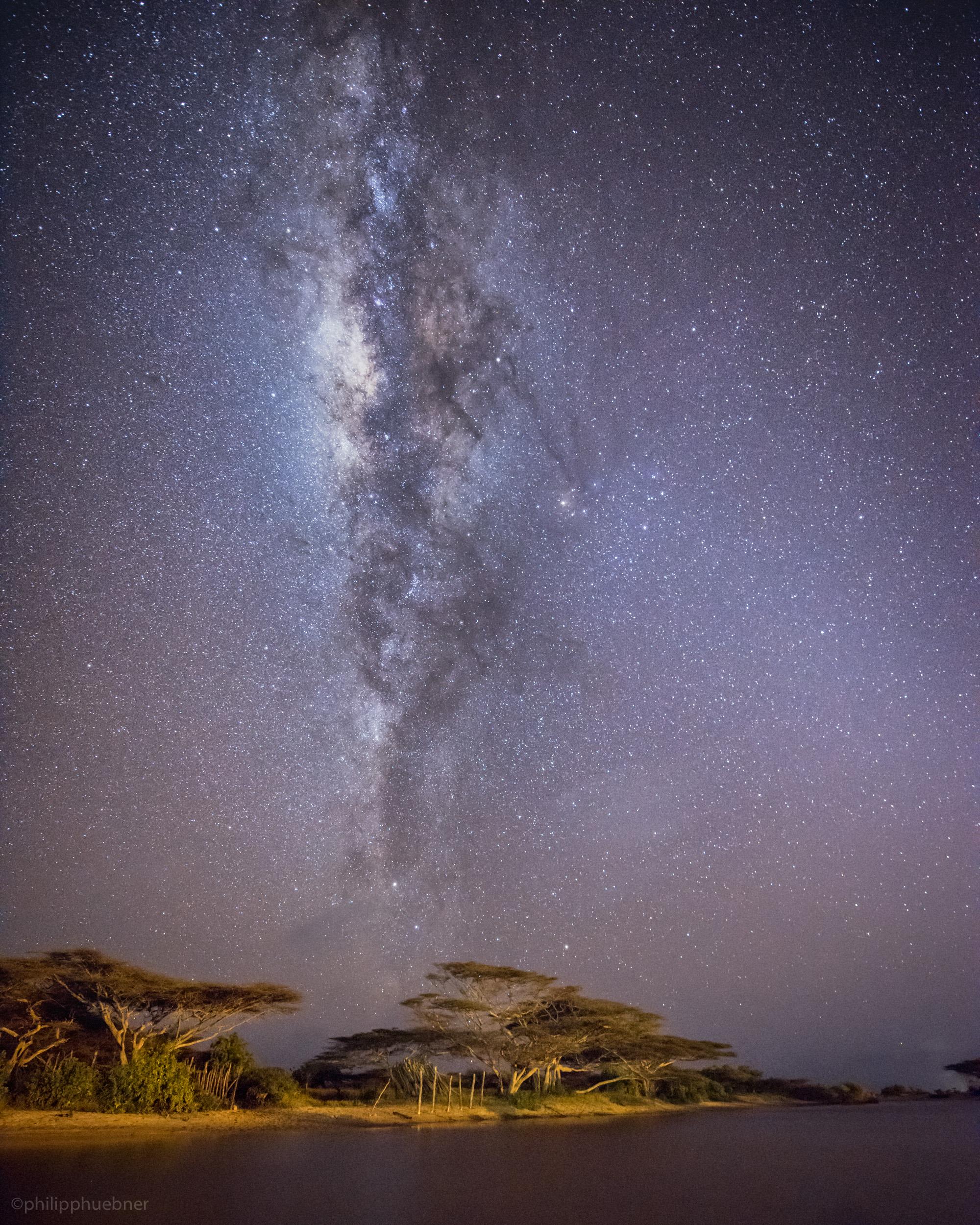 our galaxy high above the acacia trees - manda island