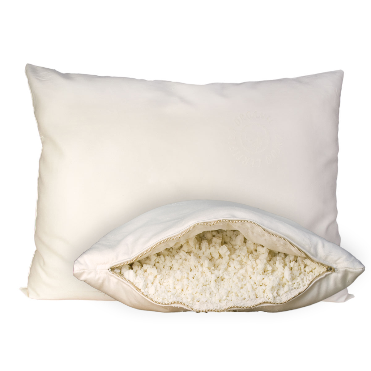 Wool-Wrapped Shredded Rubber Pillow