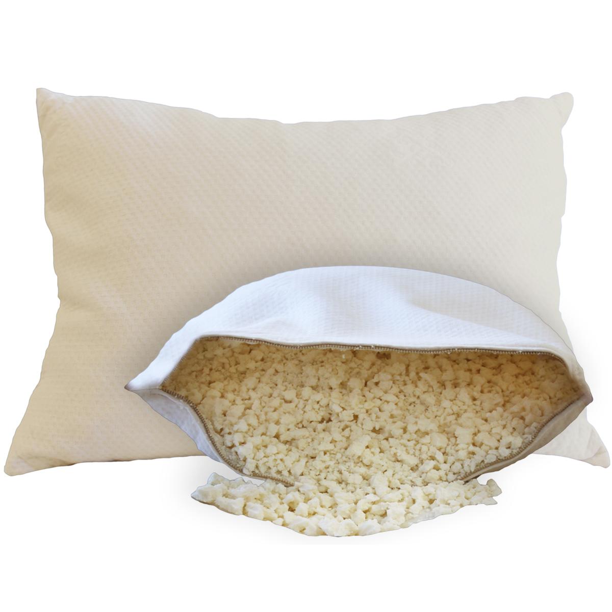 The Crush Natural Shredded Rubber Pillow