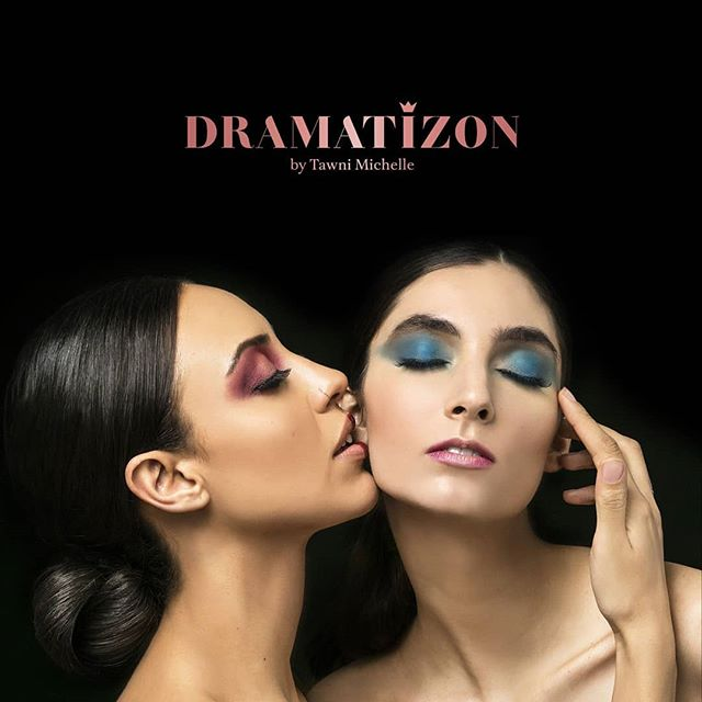 """Eyes are captivatingly beautiful.  Not because of the color but because of the words they hold within them.""- The launch of my new eyeshadow collection is here.#DRAMATIZON by Tawni Michelle. Check out the LURID Palette to find these high pigmented shades.  SWIPE LEFT=  to see all colors in the palette.  Shop : Www.dramatizon.com or link in bio Models: @ninabtncrt @parisalatraqchi Make-up:@makeup.byjoh @gsteeeeves Hair: @brit_tani11 Photographer:@isadorabphotography Visuals/Branding/Logo design: @natashasdesigns  #dramatizon #nycmakeupartist #makeupartist #luridpalette #eyeshadow #makeupaddiction #beautycommunity #makeupcollection #brianchampagne #dramaon"