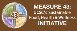 """Measure 43 - The Center for Agroecology & Sustainable Food Systems (CASFS) at UC Santa Cruz provides campus speaker event support through Measure 43 for UCSC student-based events and programs. CASFS administers UCSC's Measure 43 funding to support a host of programs and opportunities for students at UCSC. Measure 43 will ensure that all undergraduate students have access to education and programs that enhance their understanding of the food system and their food choices, and that increase opportunities for classes, workshops, """"learning journeys,"""" hands-on gardening experiences, and other campus activities."""