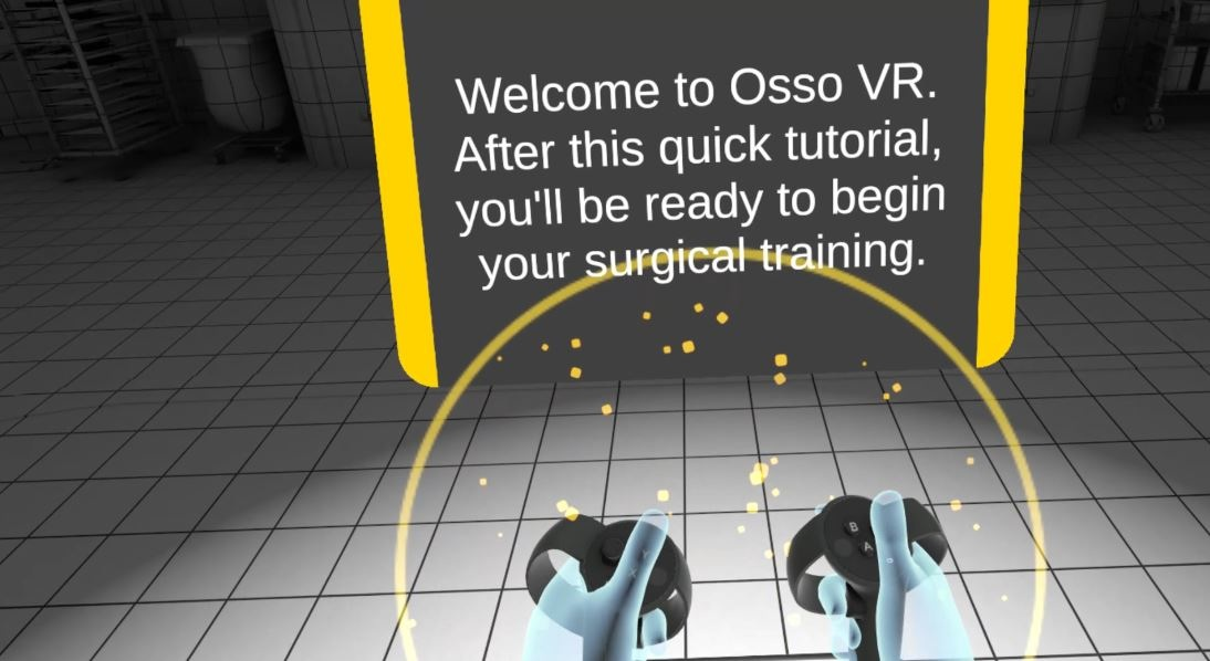 Onboarding new users to use virtual reality and Osso VR content.