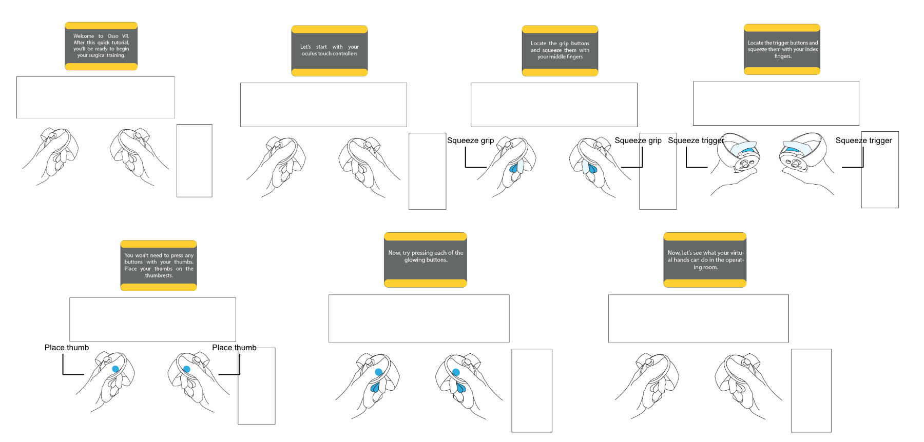 Partial Storyboard from Part 1 of Original Osso VR Tutorial