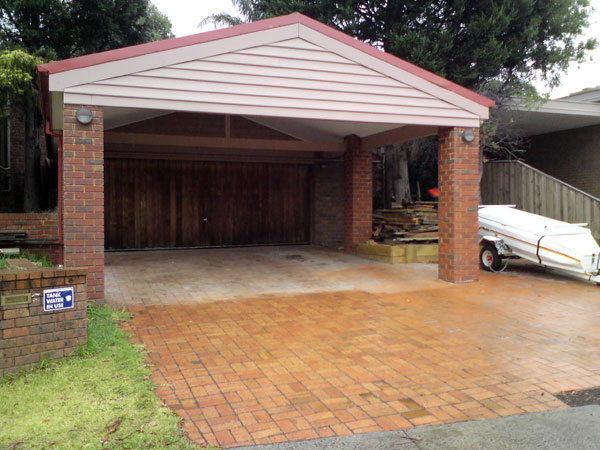 Carport Before and After -