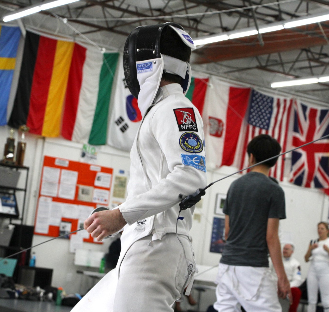 Competing at DC Fencers Club Champagne Challenge November 2018 - PC: Sally Gifford
