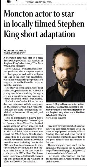 Moncton Times & Transcript (Jan 20, 2015)