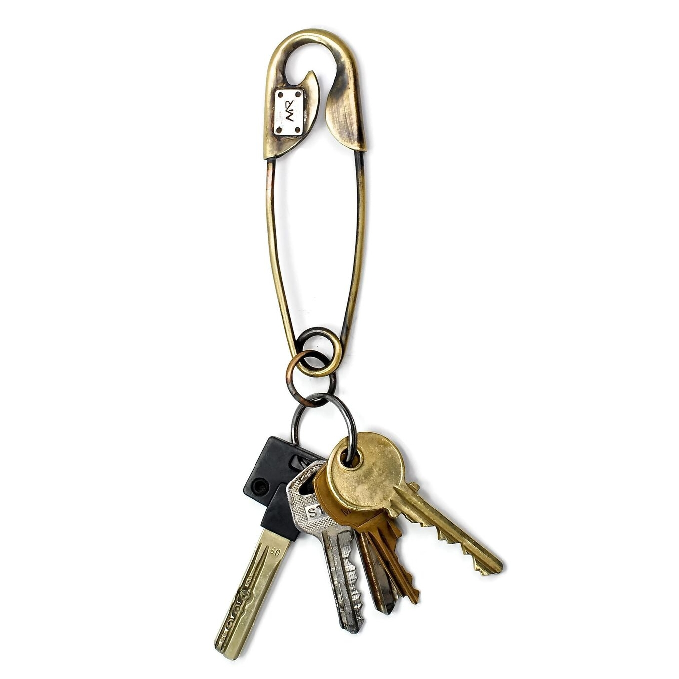 Safety_Pin_Key_Chain_In_Patina_Brass_and_Silver_1_preview.jpeg