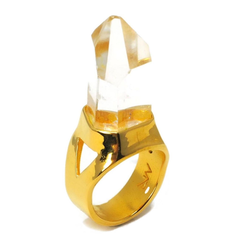 Single Quartz Crystal Ring 14K Gold 1_preview.jpeg