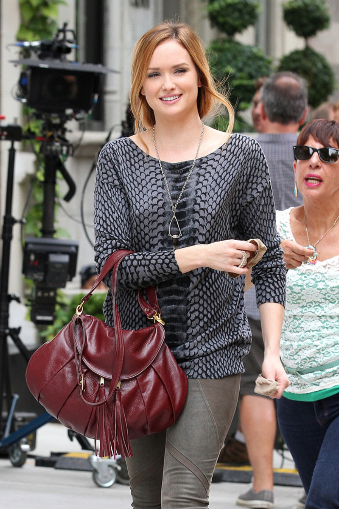 "Kaylee wears a Michael Raymond piece on ""Gossip Girl."""