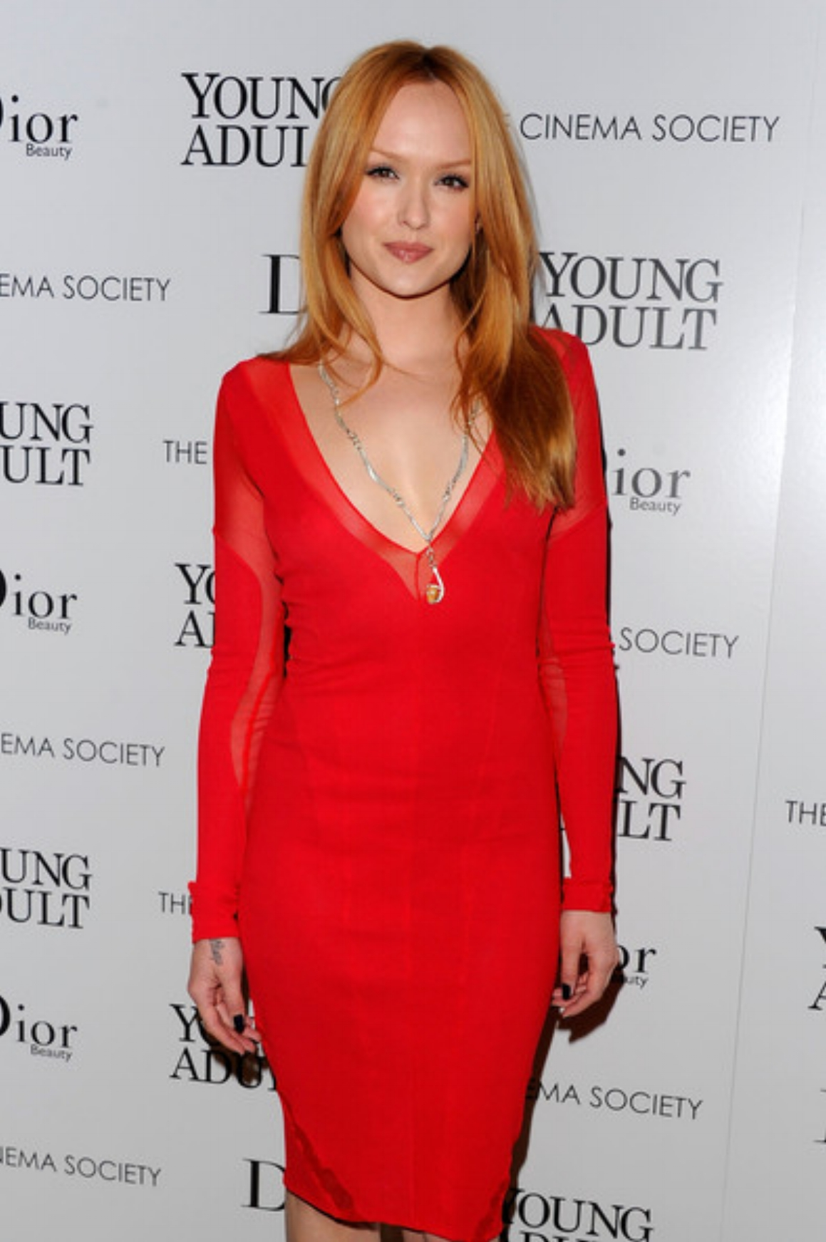 "Kaylee DeFer wears a Michael Raymond necklace at the New York screening of ""Young Adult"" at the Tribeca Grand event."