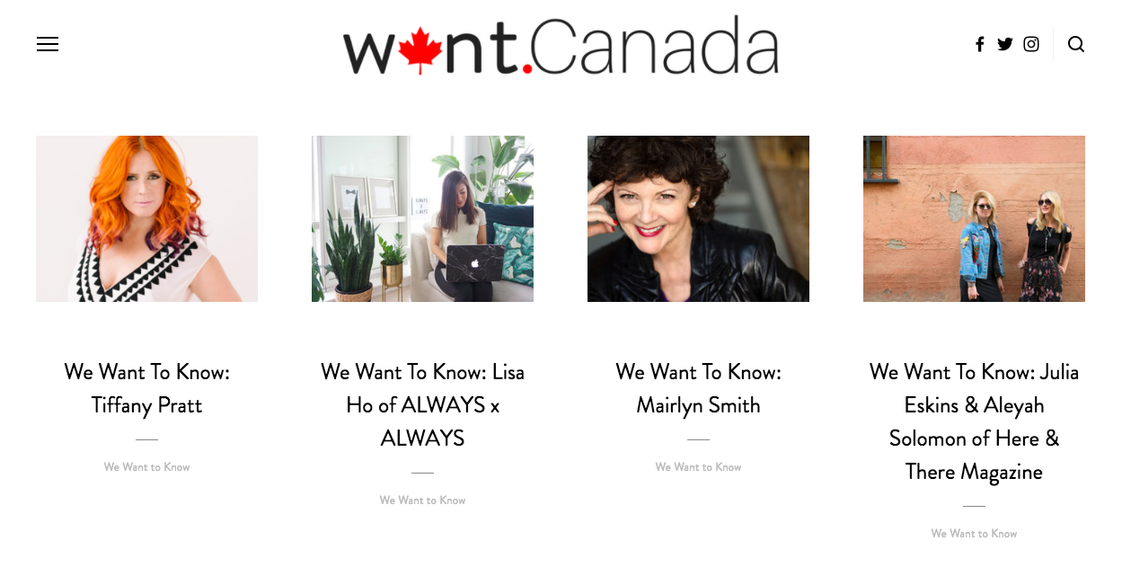 A couple of screenshots of the  #WeWantToKnow  series on the  other  blog I write.