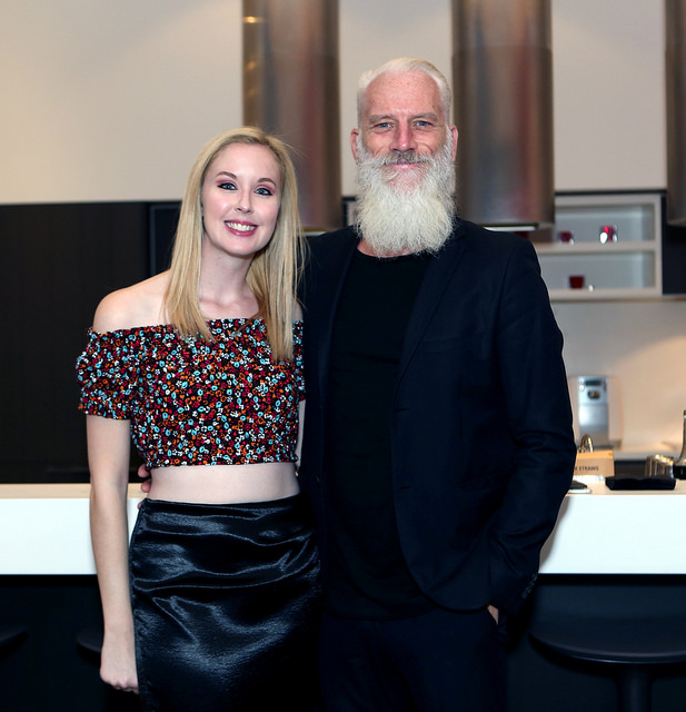 Meaghan with model Paul Mason at her Savage Social event. Photo Credit: Olga Hutsul Photography