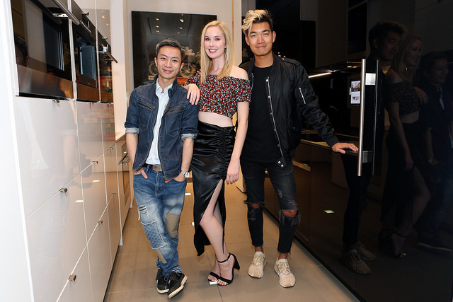Meaghan with Marcus Kan and Alexander Liang at her Savage Social event. Photo Credit: Olga Hutsul Photography