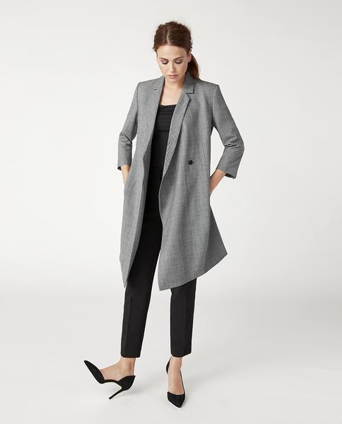 The blazer dress, shown as a dress and as a jacket