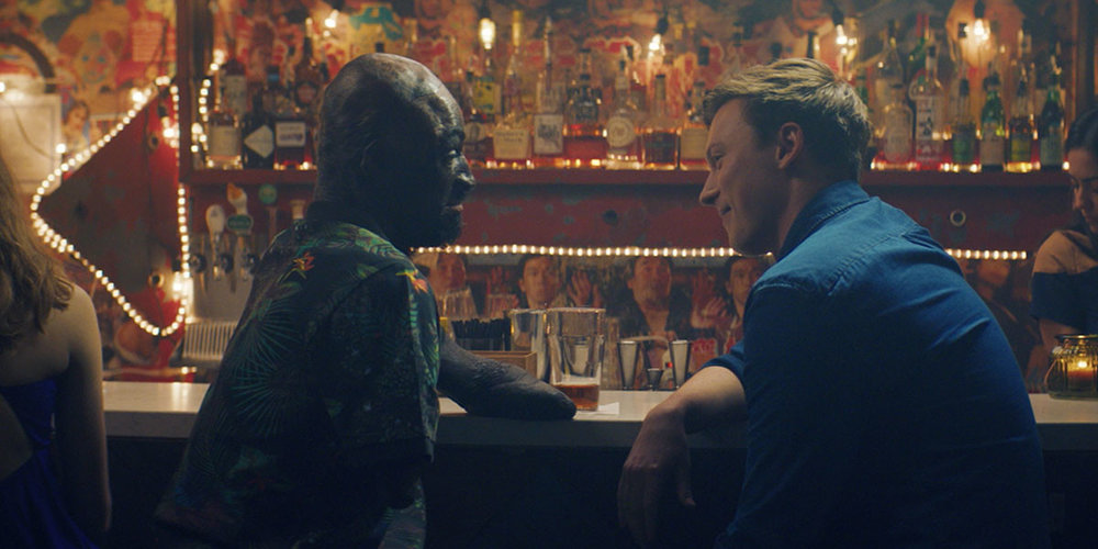 A scene from The Things You Think I'm Thinking, starring Prince Amponsah (left) and Jesse LaVercombe (right).