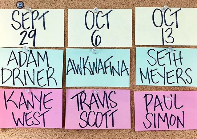Supremely stoked for this. @nbcsnl 10/6