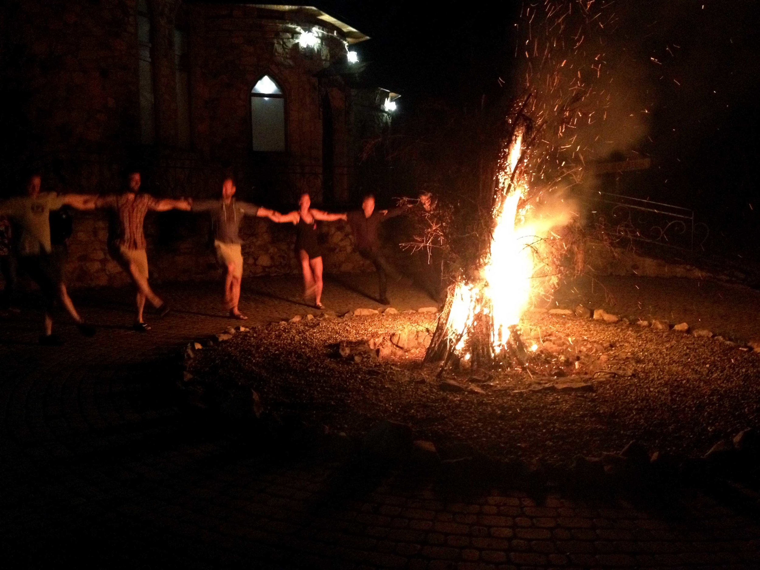 Troyanda, along with some friends, fittingly danced Arkan in the Carpathian Mountains.