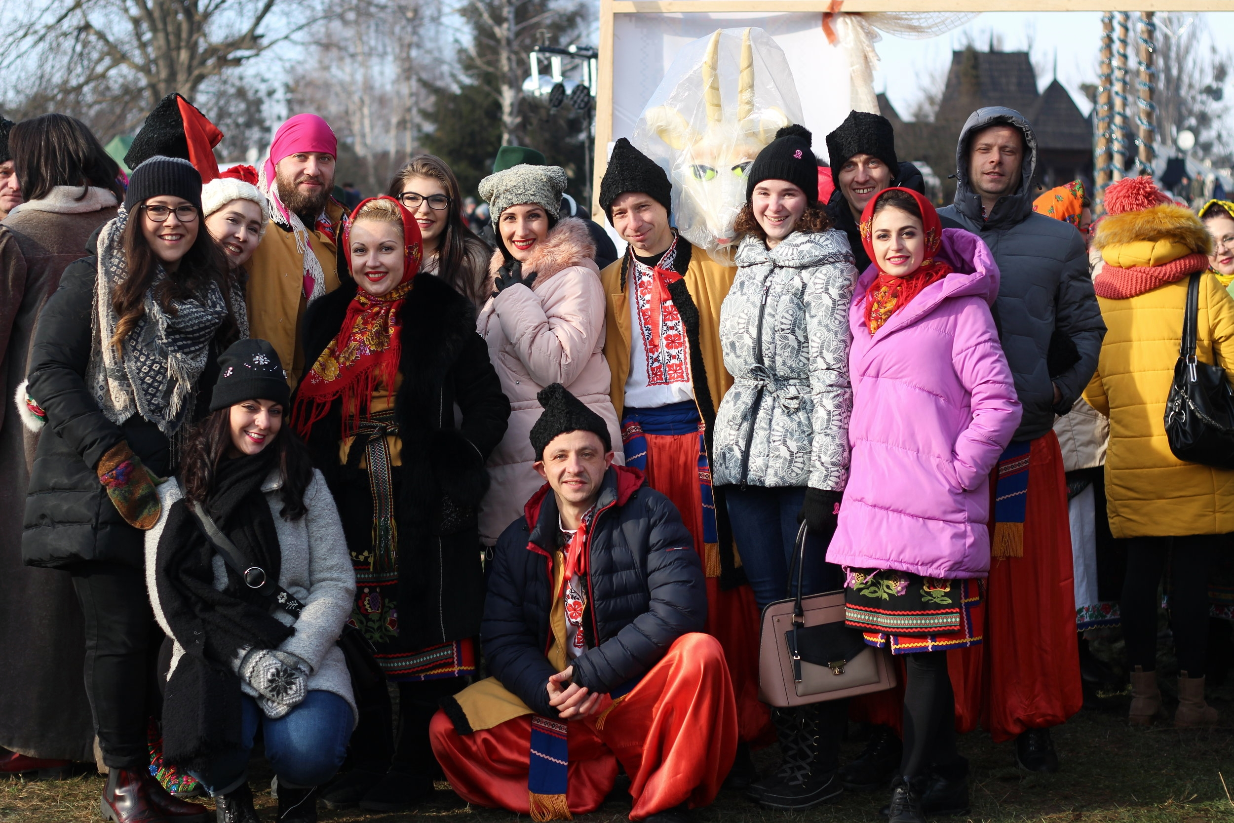We watched the ensemble perform a holiday dance at the open air museum in Chernivtsi on Jan. 21.