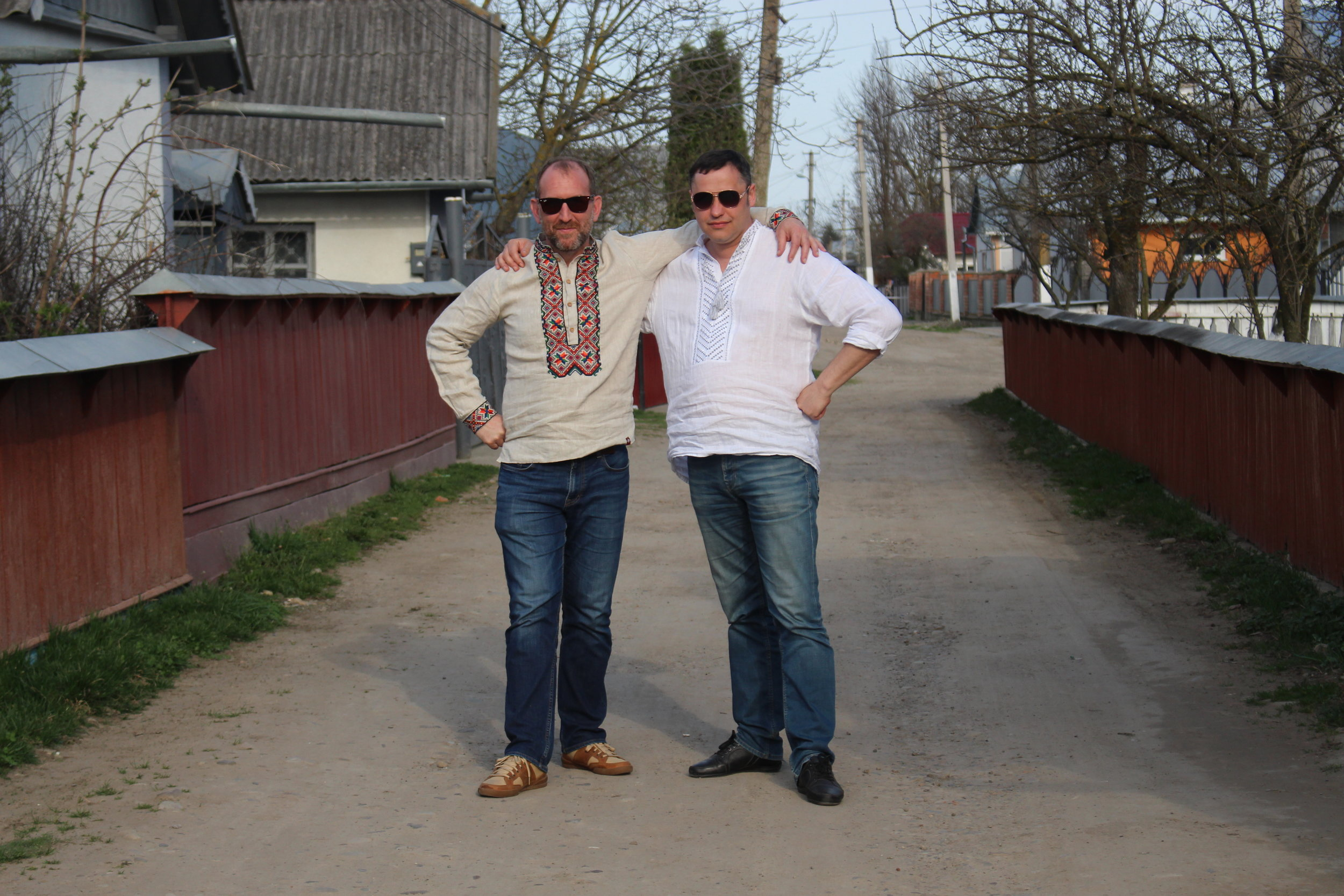 Vincent Rees and Kyrylo Kozachuk of Cobblestone Freeway Tours AKA the people taking care of me this year