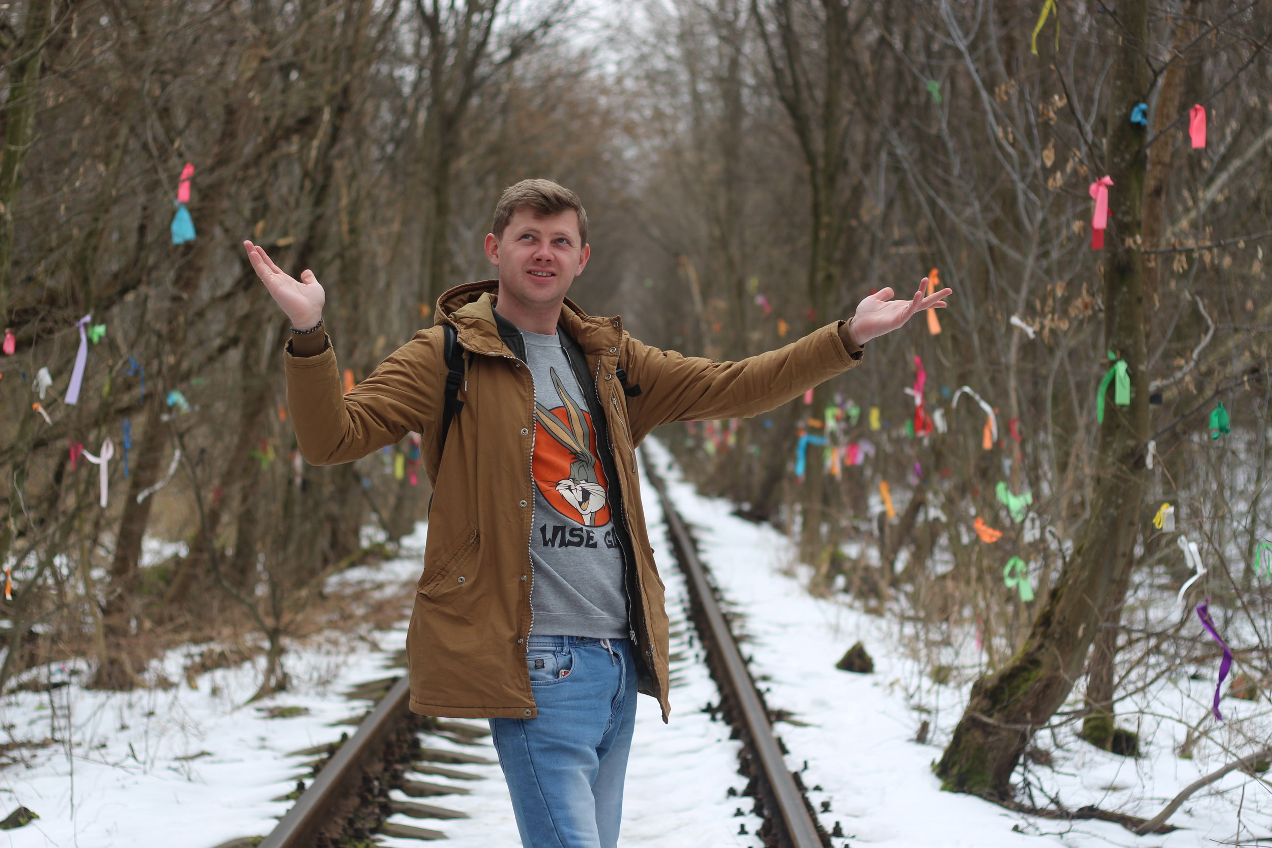 The lack of greenery didn't stop us from having a photoshoot. Here Taras from  Cobblestone Freeway Tours  shows off his moves.