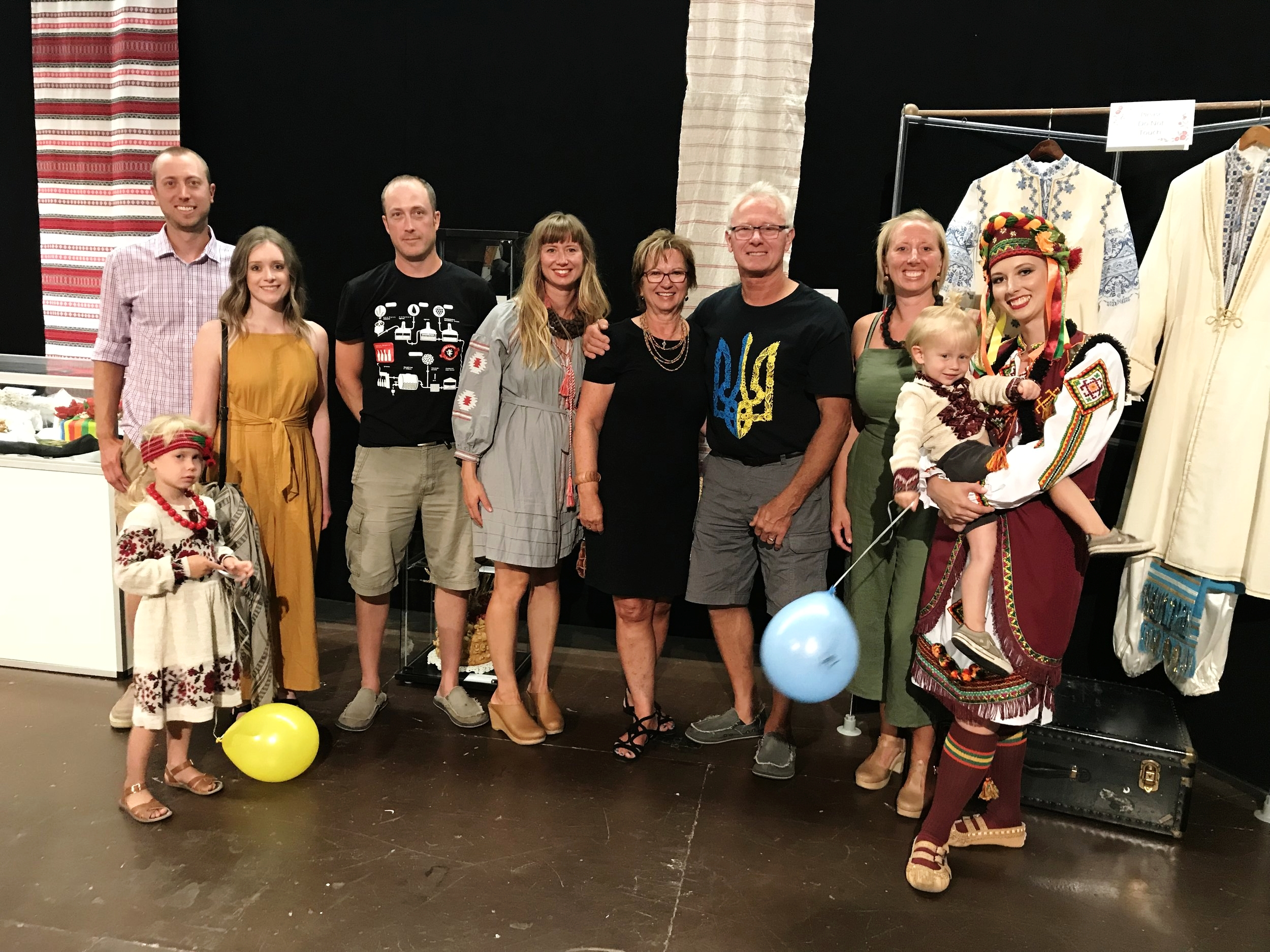 The whole crew came to watch me perform at Folklorama Aug. 8.