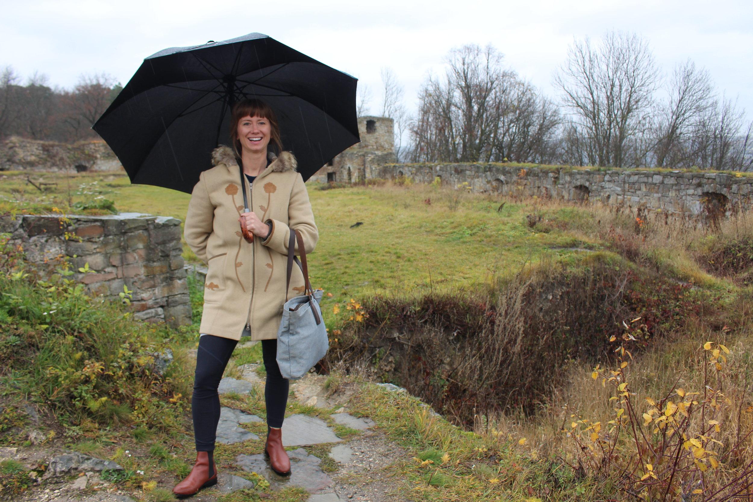 My sister and I visited castle ruins in Terebolvya in November 2017.