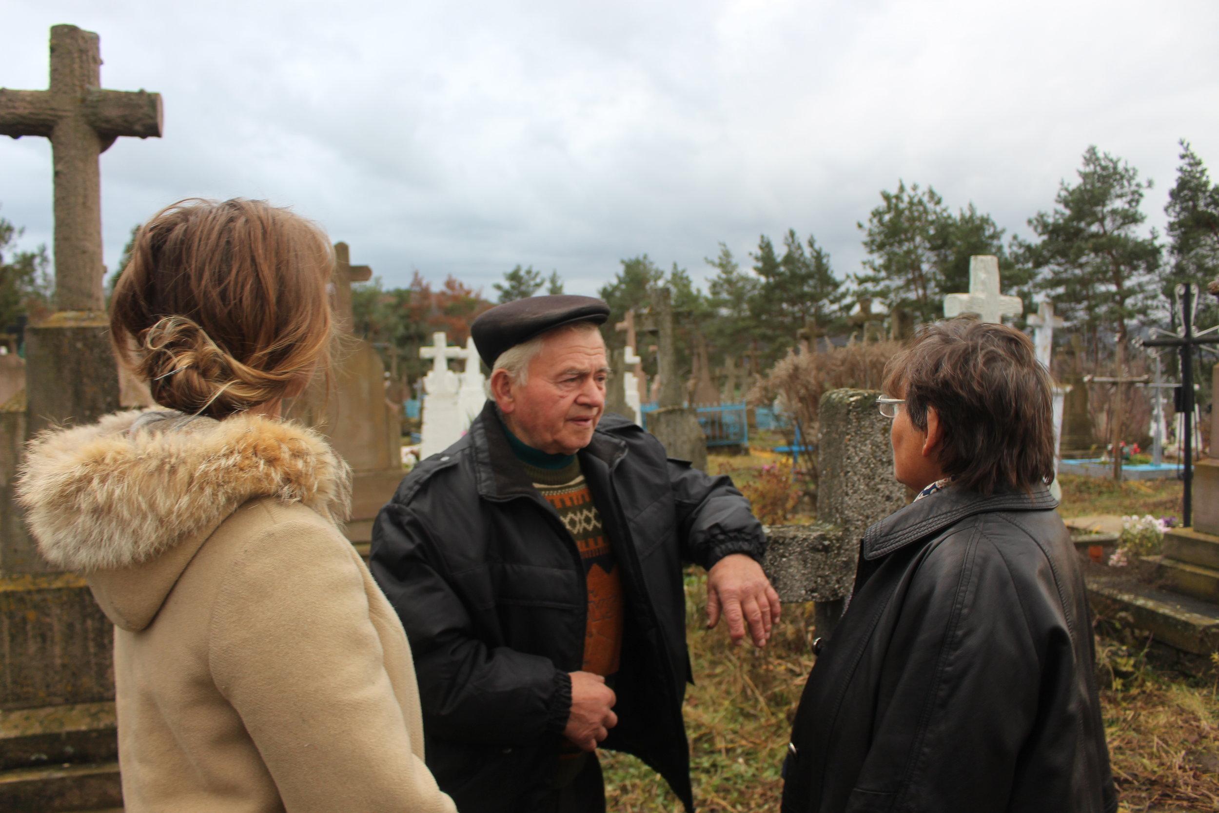 We went to the cemetery in Zalavye.