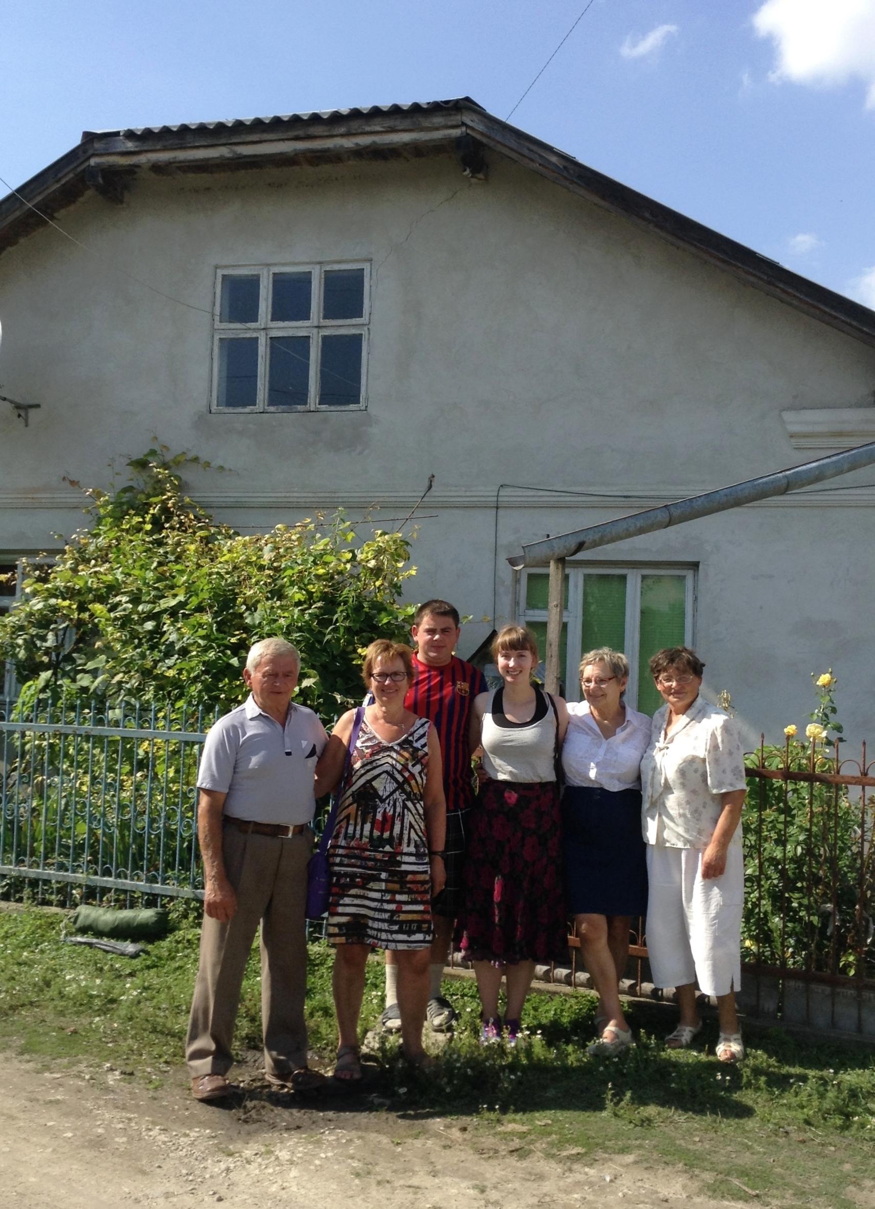 Mykhailo, my mom, Ivan, me, my mom's cousin Shirley, and Hanna.