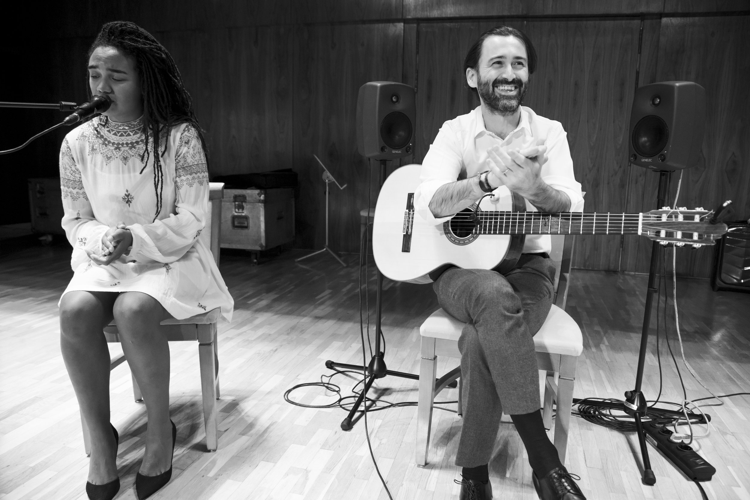 Javier Limon & Tonina performing at the National Auditorim of Music in Madrid, Spain in 2016. Photo by Eva Marques.