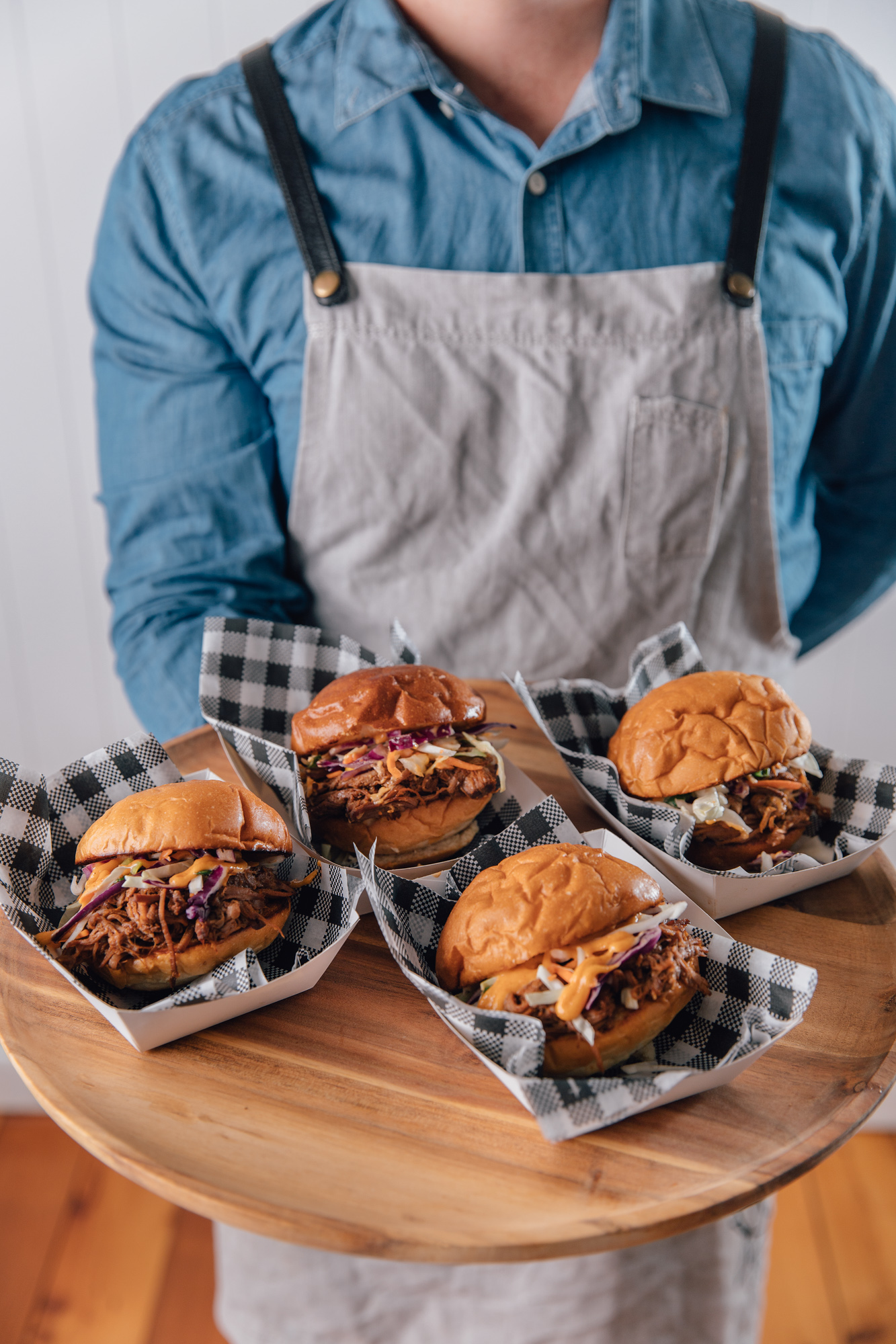 FOOD CART CATERING - PULLED PORK BURGER