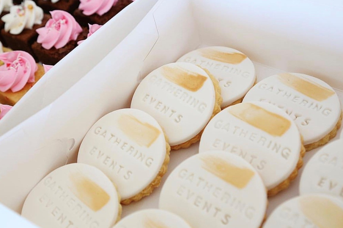 Custom Cookies - Perfect catering accompaniment with our mobile coffee cart.Add your company name or own saying to get a little more personal at your celebration.From $4.00 +GST per item(min order of 50 items)