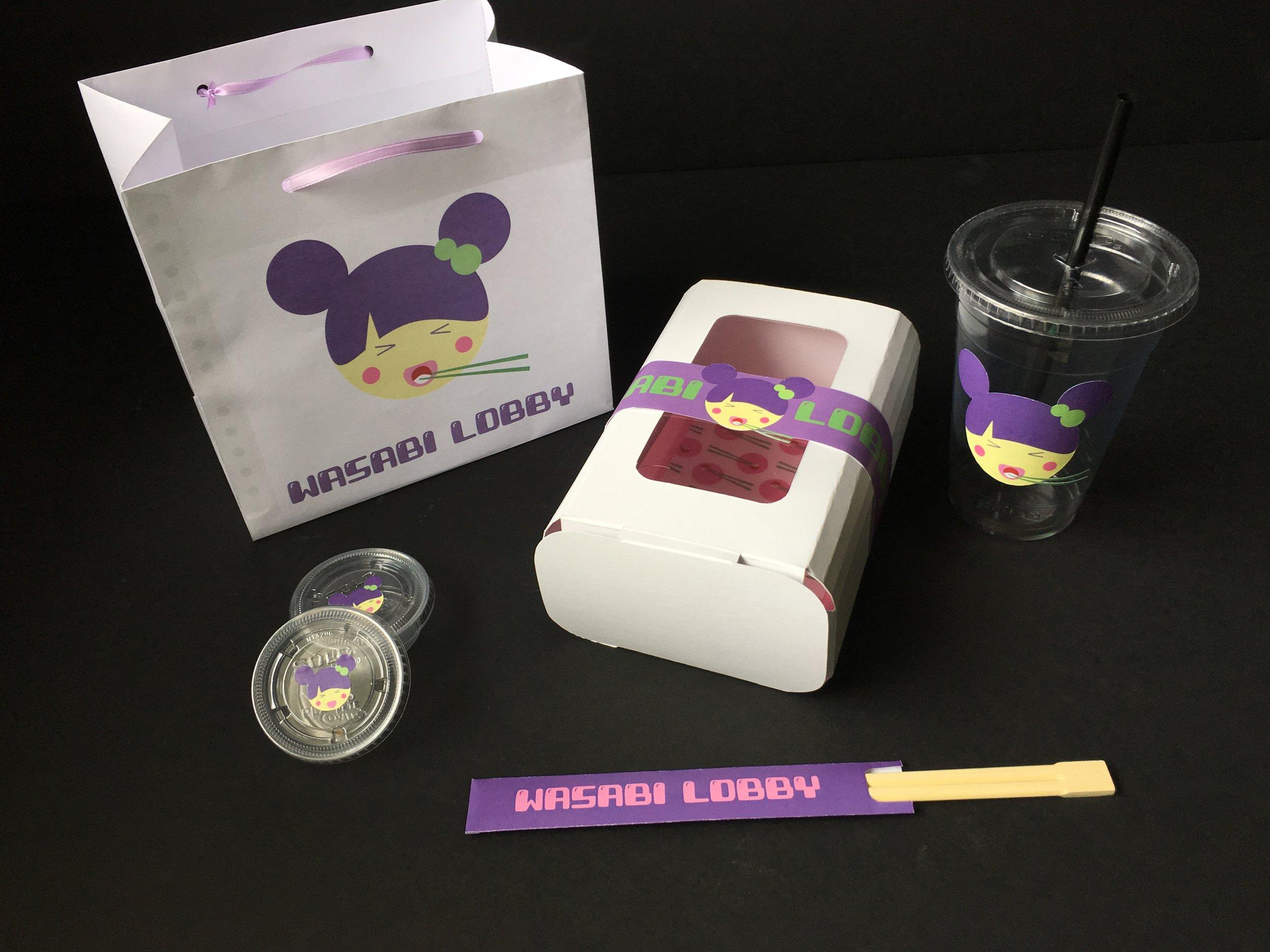 Wasabi Lobby Packaging