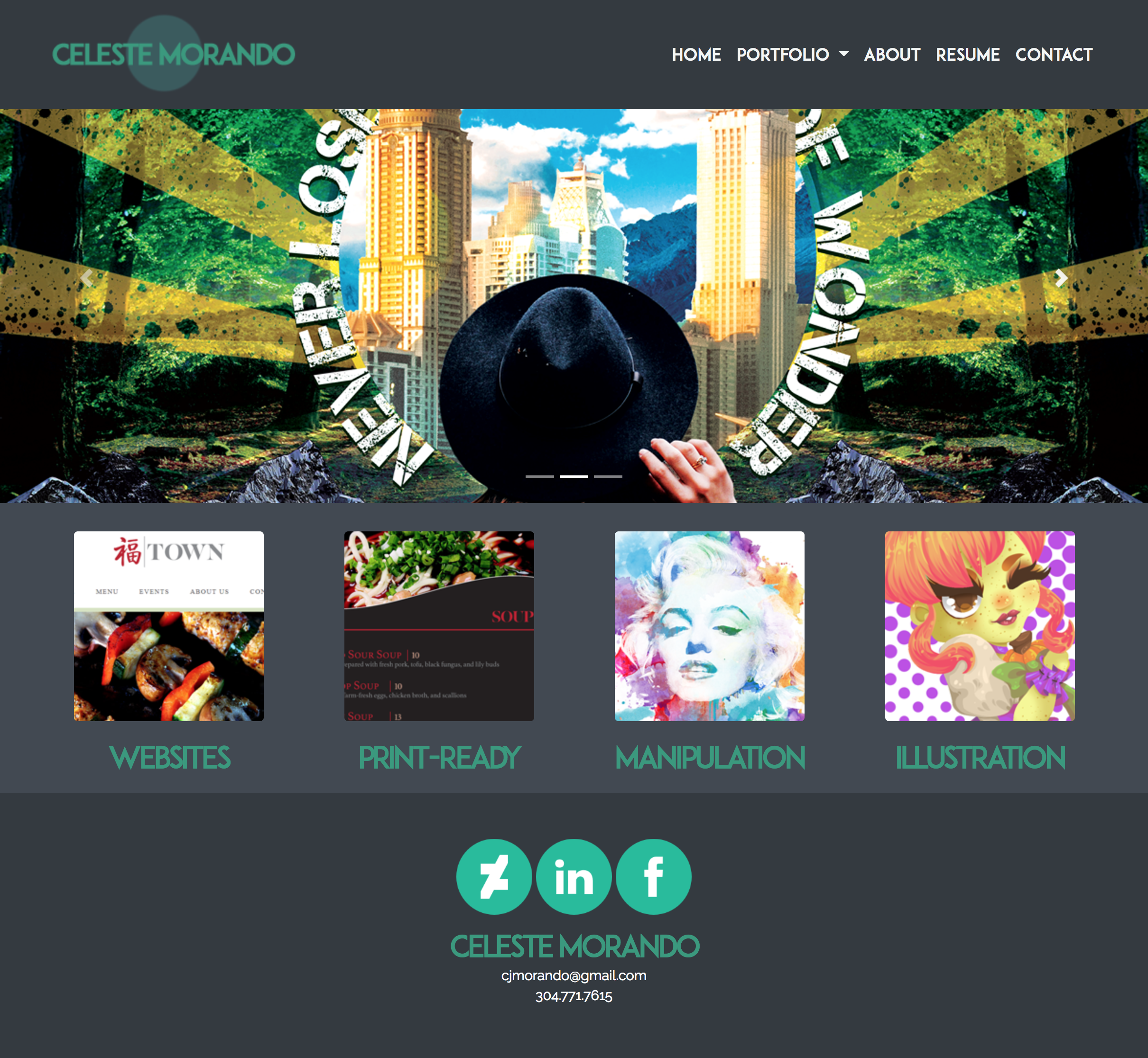 Portfolio Website - Responsive Bootstrap Development